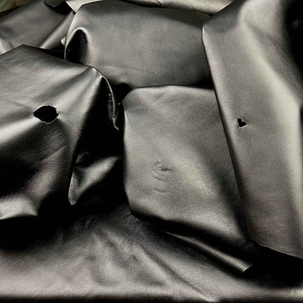 Lammnappa schwarz C-Qualität: 12 Häute