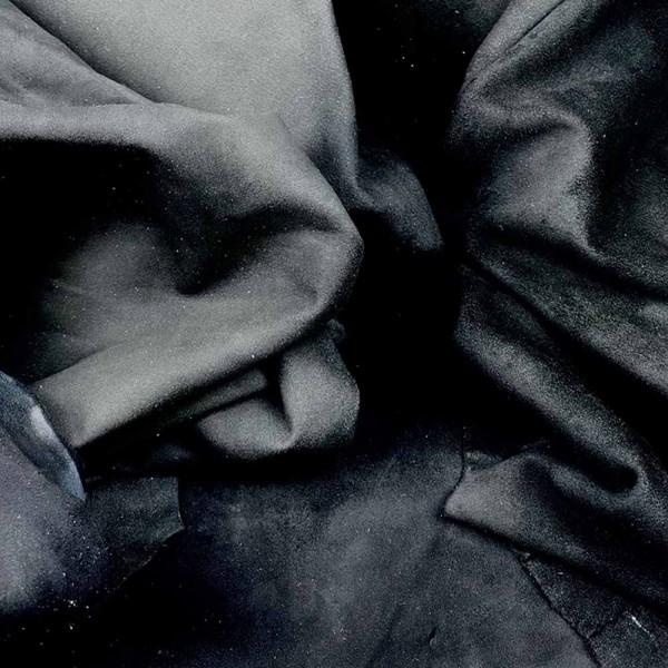 Ziegenvelours schwarz C-Qualität: 12 Häute