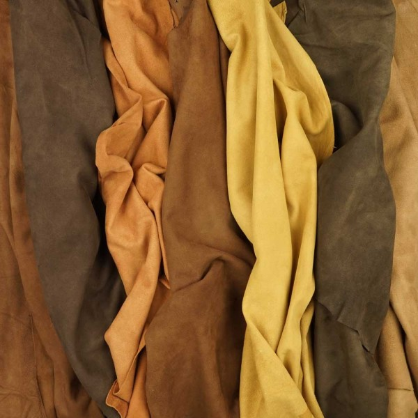 goat suede exceptional items gamut of colours: earthy tone